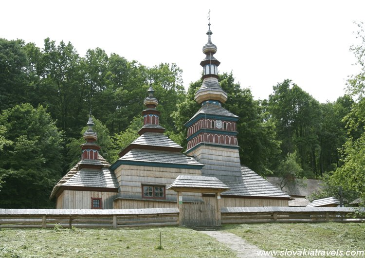 The Open Air museum of Bardejov Spa - The Wooden church of Mikulasova