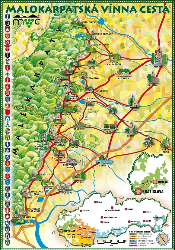 Small Carpathian Wine Route map